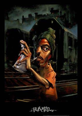 Justin BUA 420 art Print POSTER urban NYC RARE graffiti - 24x34