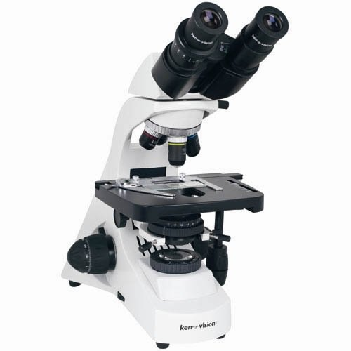 Ken-A-Vision T-29045 Research Microscope, 10× Eyepiece, Trinocular Head And Infinity Semi Plan Objectives