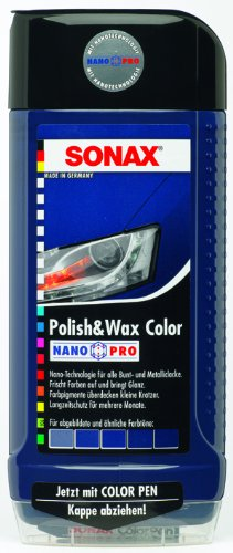 Sonax 500ml Colour Polish and Wax - Blue