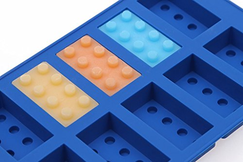 Building Bricks Shaped Ice Cube Chocolate Soap Tray Mold Silicone Party maker (Ships From USA)