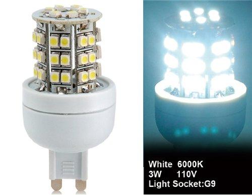 Wrui 3528-48L-110V 3W G9 48 X 3528Smd White Led Corn Bulb