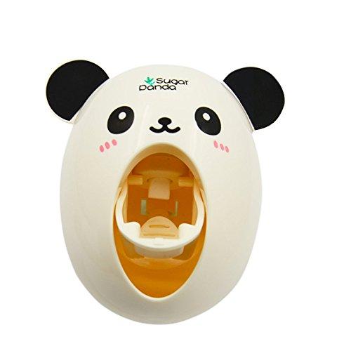 Gosear® Dessin Animé Panda Dentifrice Automatique Squeezer Distributeur Avec Suction Cup Nouveauté Maison Salle De Bain Accessoires Gadget