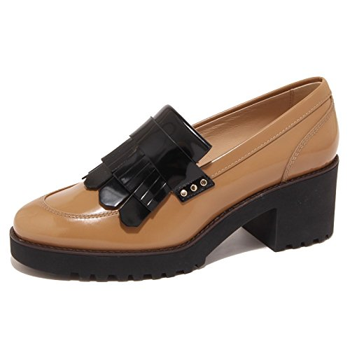 5892O mocassino HOGAN ROUTE cammello scarpa donna shoe woman [37.5]