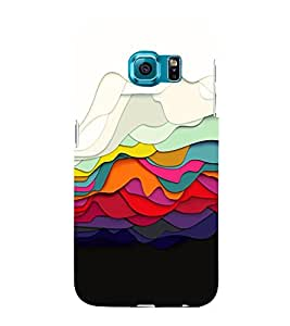 Colored Graphics 3D Hard Polycarbonate Designer Back Case Cover for Samsung Galaxy S6 Edge :: Samsung Galaxy Edge G925