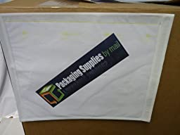 Reclosable Clear Packing List Envelope Plain Face Side Load Enclosed 2.0 Mil Thick - 8\