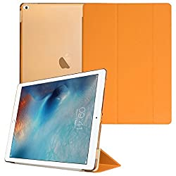 Smart Cover for Apple iPad Pro, Go Crazzy Translucent Back Flip Case for Apple iPad Pro 2015 Edition (Orange)