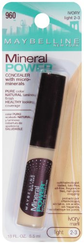 Maybelline New York Mineral Power Concealer, Ivory, Light 2-3