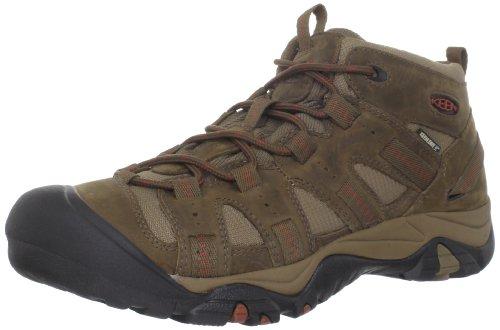 KEEN Men's Siskiyou Mid Waterproof Hiking Boot,Dark Earth/Burnt Henna,8.5 M US