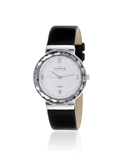 Skagen Women's SKW2043 Leather Black/Silver Stainless Steel Watch As You See