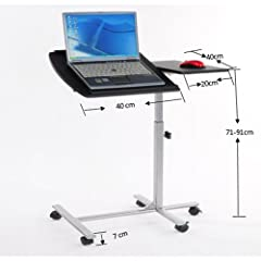 Fashion Mobile Foldable Table Laptop Cart Book Stand Lap Drawer adjustabel tilt