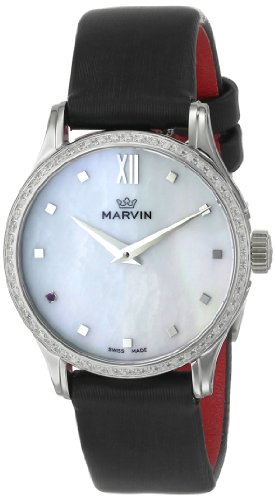 Marvin-Womens-M020717494-Malton-Stainless-Steel-Watch-with-Black-Band