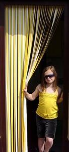 Slat type Door Curtain,Bug Blind,Fly Blind,Strip Blind-YELLOW & WHITE