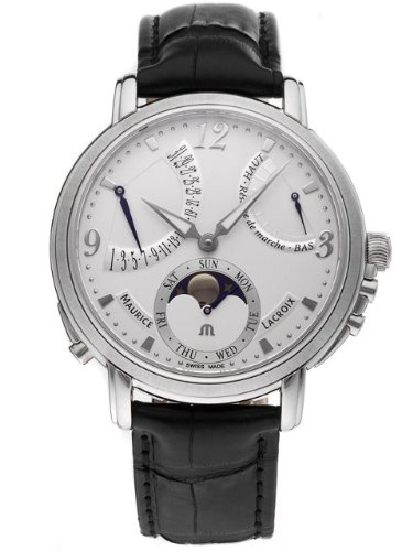 Maurice Lacroix Men'S Mp7078-Ss001120 Master Piece Silver Power Reserve Dial Watch