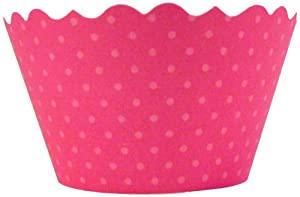 Bella Couture Hot Pink Cupcake Wrappers