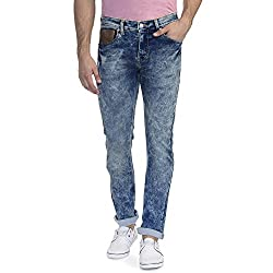 Scotchtree Stretch Slim Fit Knitted Crushed Look Denim