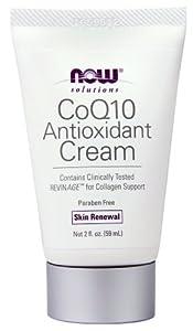 NOW Solutions CoQ10 Antioxidant Cream, Skin Renewal, 2-Fluid Ounces