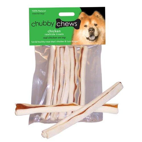 Chubby Chews Premium Rawhide Chews  Chicken,