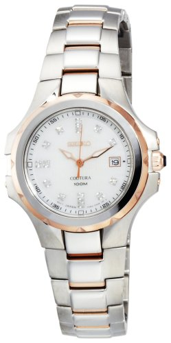 Seiko Women's SXDB64 Coutura Two-Tone Rose Gold Finish 14 Diamonds Watch