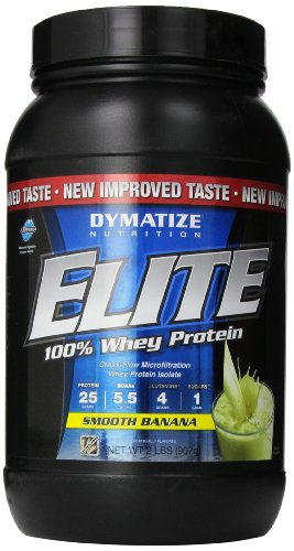 Dymatize Nutrition Elite Whey Shake, Smooth Banana, 2 Pound