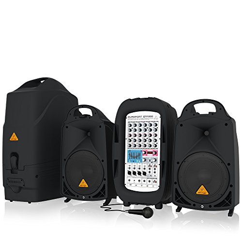 Behringer EUROPORT EPA900 Ultra-Compact 900-Watt 8-Channel Portable PA System (Behringer Pa 900 compare prices)
