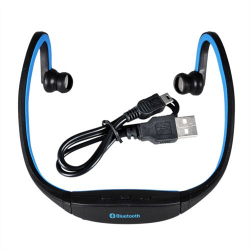 Globalebuy High-Definition Wireless Bluetooth Headphones Sports Headset For Iphone 4 4S 5S Samsung Htc Smartphone (Blue)