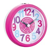 "Kids ""Tell The Time"" Alarm Clock Colour: Pink"