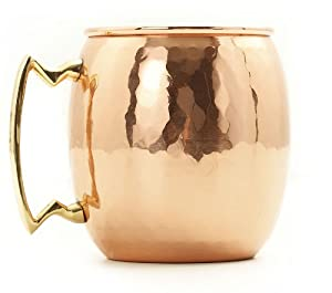 Old Dutch 16-Ounce Solid Copper Hammered Moscow Mule Mug
