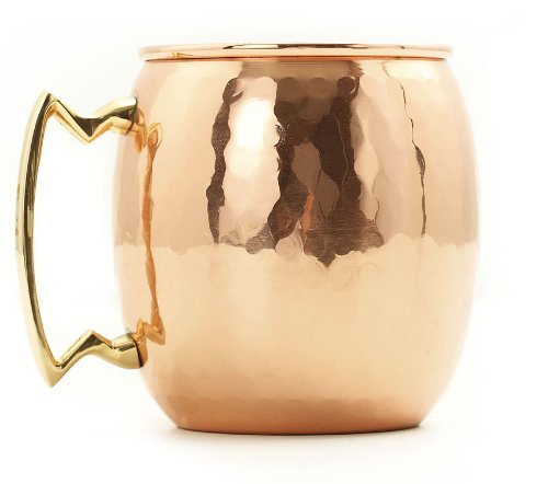 Old Dutch 16-Ounce Solid Copper Hammered Moscow Mule Mug front-630960