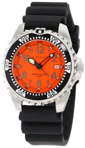 Momentum men 39 s 1m dv00o1b m1 orange dial black rubber dive watch black friday and cyber monday - Orange dive watch ...