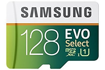 128 GB , Micro SD W/ Adapter : Samsung 128GB 80MB/s EVO Select Micro SDXC Memory Card (MB-ME128DA/AM)