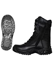 Mens AIR-TAC Plus Zipper Leather Boots - Leatherbull (Free U.S. Shipping)