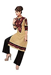 AMP IMPEX Ethnicwear Women's Kurti Fabric BEIGE_Free Size