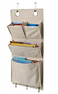 Over the Door Magazine Storage Pockets Hooks Books Organizational Back to School Office Home,…