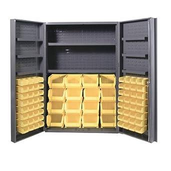 Durham heavy duty welded 14 gauge steel cabinet with 64 for 14 gauge steel door