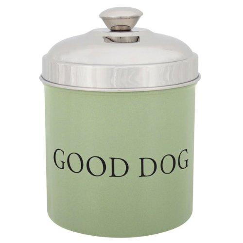 Proselect Stainless Steel Good Dog Treat 1.8-Quart Canister, Sage Green front-340656