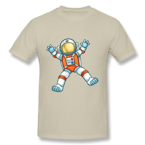 Space Astronaut Boy Tees,Natural Short Sleeve Tee Size Xs