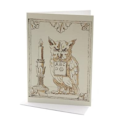 William Kent Owl Greeting Card||EVAEX