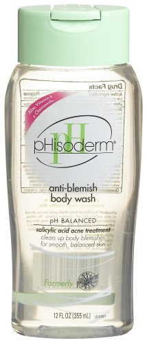 Phisoderm Anti-Blemish Body Wash, 12-Ounce Bottles (Pack of 3)