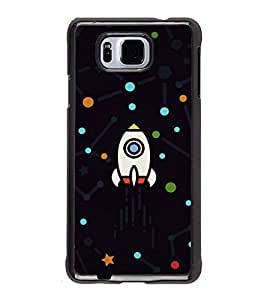 printtech Rocket Dots Design Back Case Cover for Samsung Galaxy Alpha G850