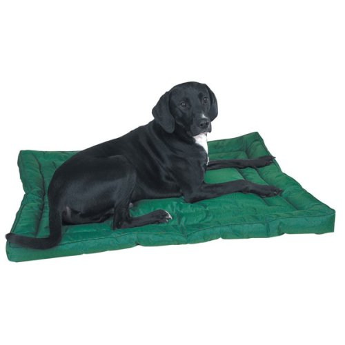 Slumber Pet Nylon Water Resistant Dog Bed, Large, Green front-386174
