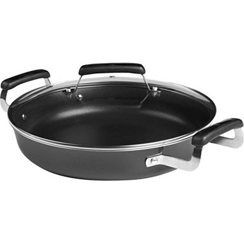 "Dishwasher Safe 12""Round Non-Stick Covered Skillet W Riveted Stay-Cool Handles"