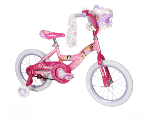 Huffy Girl's Disney Princess Bike, Jewel Pink/Pink, 16-Inch