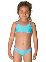 American Apparel Kids Bikini Bottom - Light Turquoise / Light Purple / 2 Years