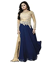 ZHot Fashion Fashion Net Unstitched Blue Designer Salwar Suit (RHLTG1001A) Blue