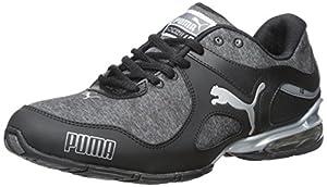 PUMA Women's Cell Riaze Heather Training Sneaker, Black/Steel Gray, 7.5 B US