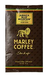 Marley Coffee, Talkin Blues, Jamaica Blue Mountain Ground Coffee Portion Packs, 18 Count
