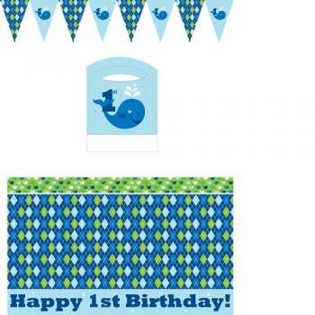 Creative Converting Ocean Preppy Boys First Birthday High Chair Kit