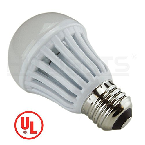 Hitlights 8 Watt Ul-Listed A19 Cool White Led Bulb - 20 Year Lifespan, Replaces 60 Watt - 5000K, 665 Lumens, 110 Volts, E26