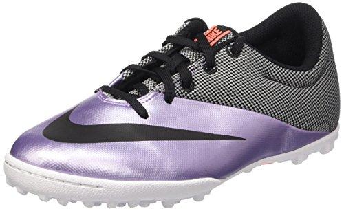 Nike Jr Mercurialx Pro Tf Scarpe da calcetto, Unisex bambini, Multicolore (Urban Lilac/Black-Bright Mango), 35 1/2