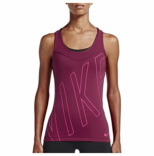 Nike Women's Pro Hypercool Explode Graphic Tank Top (Noble Red/Hyper Pink, Large)